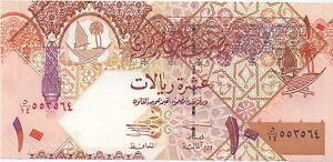 Qatar-Qatar-10-Riyals-2003-UNC-Pick-22