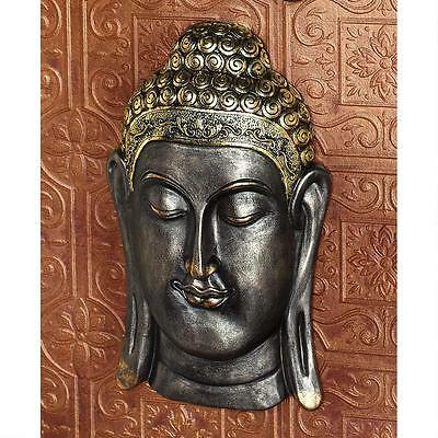 14th Century Replica Asian Buddha Bodh Gaya Meditative Oriental Wall Sculpture