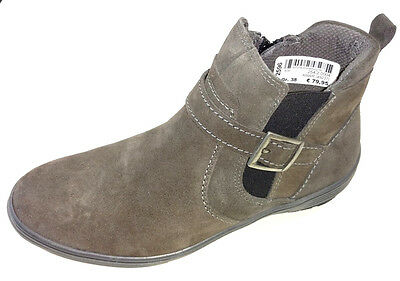 Maciejka Damen Schuhe Stiefel Stiefelette Schnürer Boots 02522 07 grau Leder