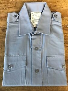 Genuine British RAF WRAF Shirt Working Dress Blue Long Sleeve NEW