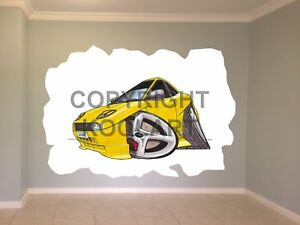 Huge-Koolart-Cartoon-Fiat-Coupe-Wall-Sticker-Poster-Mural-352