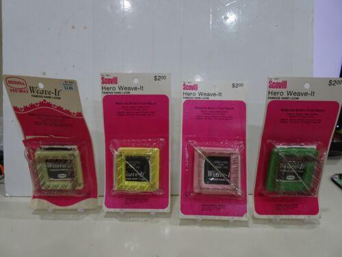 "Vintage Scovill Weave It  Loom Metal Pins plastic frame Needle Instruction 2/"""