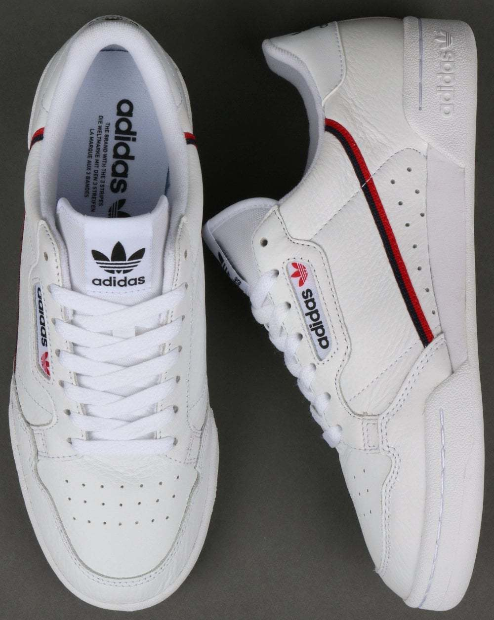 Adidas Originals Originals Originals Continental anni'80-Bianco, Rosso & Navy-NUOVO be74b9