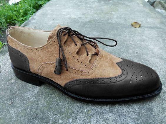 New Handmade Men Sensational Style Italian Leather zapatos, los zapatos de cuero