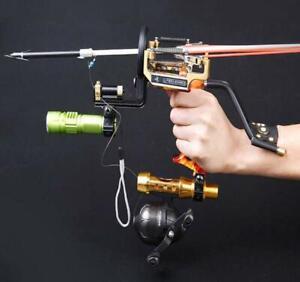 Bogen-Angeln-Slingshot-Bowfishing-Reel-Slingbow-Katapult-Bogenschiessen-Pfeil-Sling-Shot