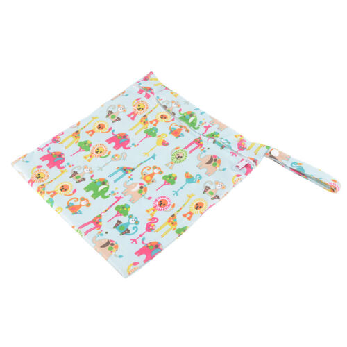 Waterproof Infant Zip Wet Dry Bag for Baby Cloth Diaper Nappy Pouch Reusable