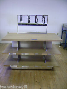 Image Is Loading 3 TIER SHELF MERCHANDISER JEANS DISPLAY TABLE RETAIL