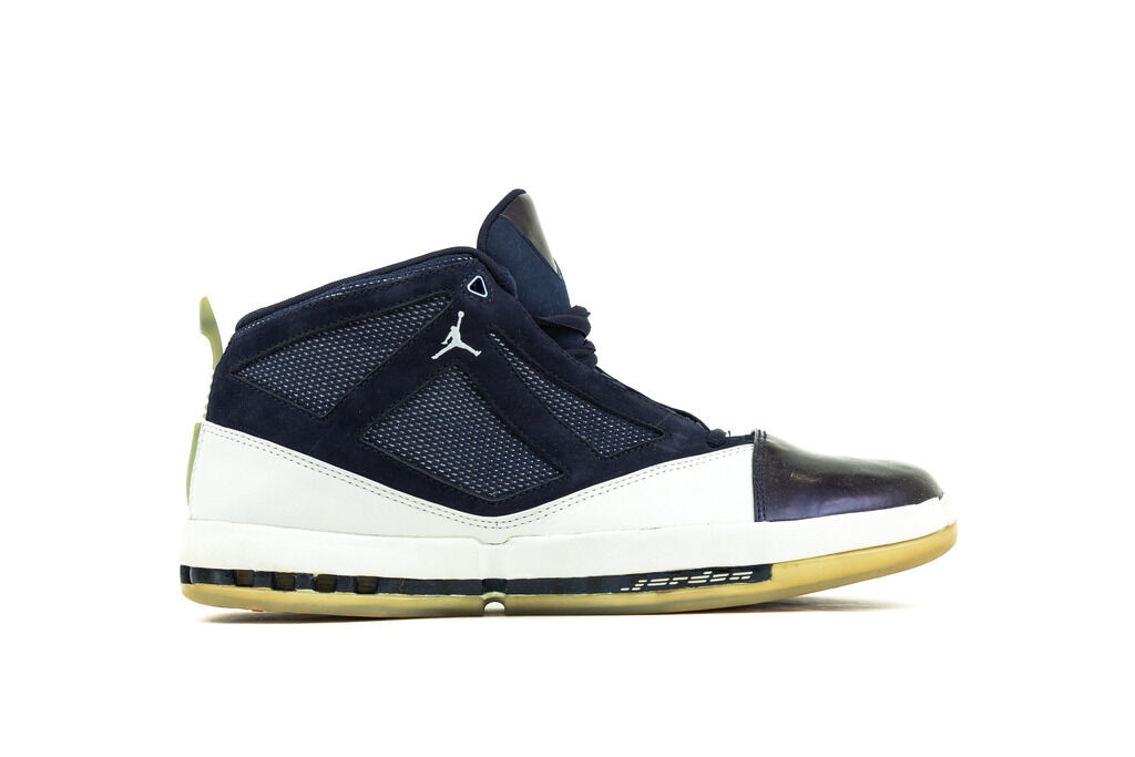 MEN'S WHITE/MIDNIGHT NIKE AIR JORDAN XVI (16) 3/4 HIGH WHITE/MIDNIGHT MEN'S NAVY 136059-141 SIZE 11.5 55dcaa