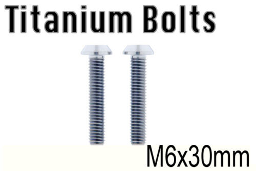 US Seller x2 Titanium Ti Bolt M6x30mm Tapered Torx T30 M6 30L Bicycle Screw