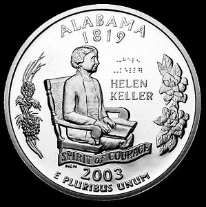 Proof Set 2003 S Maine Mint Silver Proof Statehood Washington Quarter from U.S
