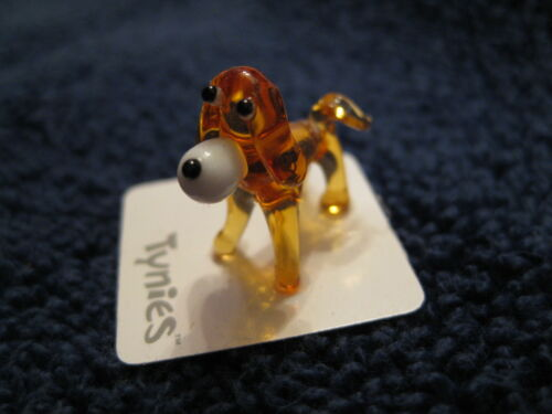 YIP YELLOW DOG TYNIES Tiny Glass Figure Figurines Collectibles NEW 0035