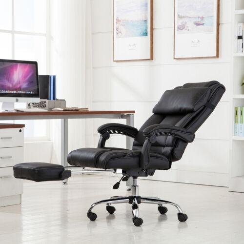 Executive Reclining Office Chair Ergonomic High Back Leather Footrest Armchair & Reclining Office Chair | eBay islam-shia.org