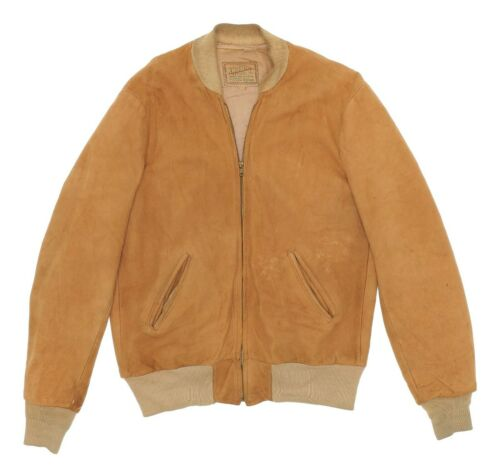 Vintage 40s APPALACHIAN Leather Jacket Small Mens