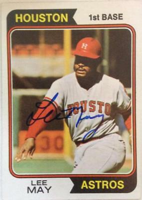 Baseball-mlb Lee May Autographed 1974 Topps #500