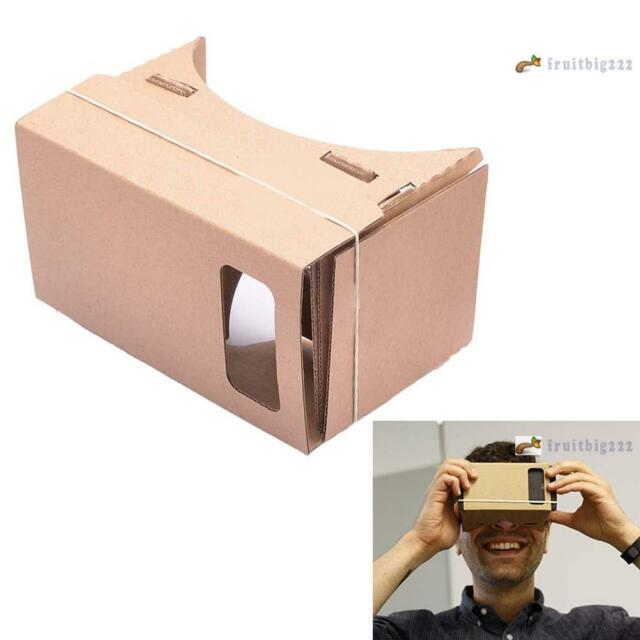 DIY Cardboard Virtual Reality 3D Glasses for iPhone Samsung ect Fits 4-7 Inch AC
