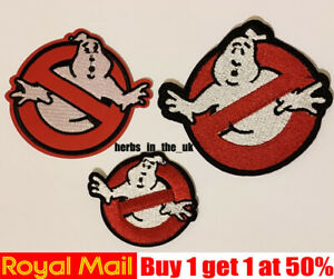 Ghost Busters Patch Badge Iron On Sew On