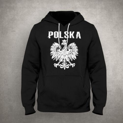 Polska Hoodie Polen Pulli Pullover Adler hochwertige Verarbeitung Fußball