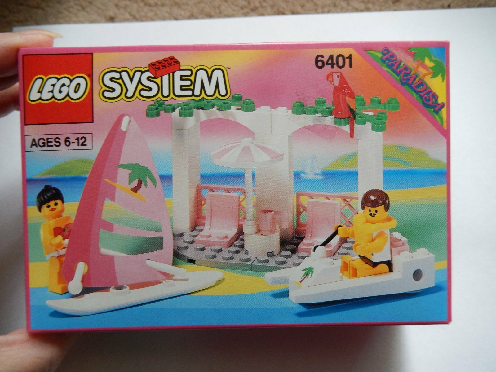 Lego  6401 Seaside Cabana Paradisa from 1992 New sealed Box  Excellent cond w 44
