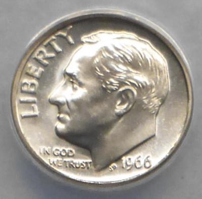 1966 S Roosevelt Dime 10c Gem Proof CN-Clad US Coin