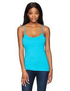 Hanes Women/'s Stretch Cotton Cami with Built-In Shelf Bra Camisole Top S to 2XL