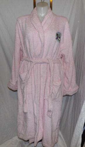 MAXINE Hallmark Pink Cotton Terry Cloth Wrap Around Pink Robe One Size  for sale