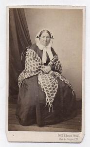 PHOTO-CDV-Carte-de-visite-Edmond-FRUIT-Paris-Femme-Challe-Vers-1870-Coiffe
