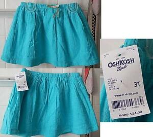de75ab78c OshKosh B gosh Girls  Gathered Skirt w  Lining - Turquoise Blue NWT ...