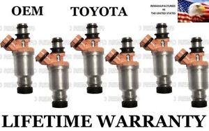 1993-1997 Toyota   Land Cruiser 6 cylinder 4.5L;  6  Fuel Injectors 23250-74080