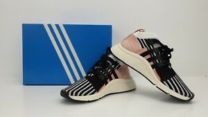 low priced a361d ef35c Image is loading Adidas-Originals-EQT-Support-Mid-ADV-White-Black-