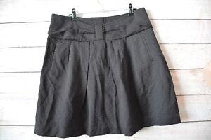 Basque-Skirt-Sz-12-Medium-Black-A-line-Circle-Skirt