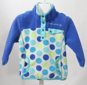 Free-Country-Toddler-Girl-Fleece-Jacket-Blue-Polka-Dot-Sz-2T-NWT