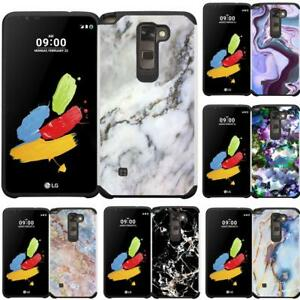 buy cheap e09d6 0ab79 Details about Marble Design Hybrid Armor Case Phone Cover for LG K520 G  Stylo 2 LG Stylo 2 V