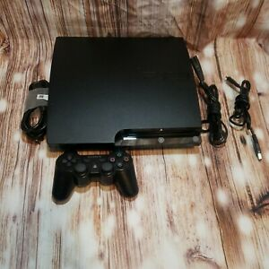Sony PlayStation 3 PS3 Slim 120GB 2001A Console w/ Cables & Controller ~Tested !