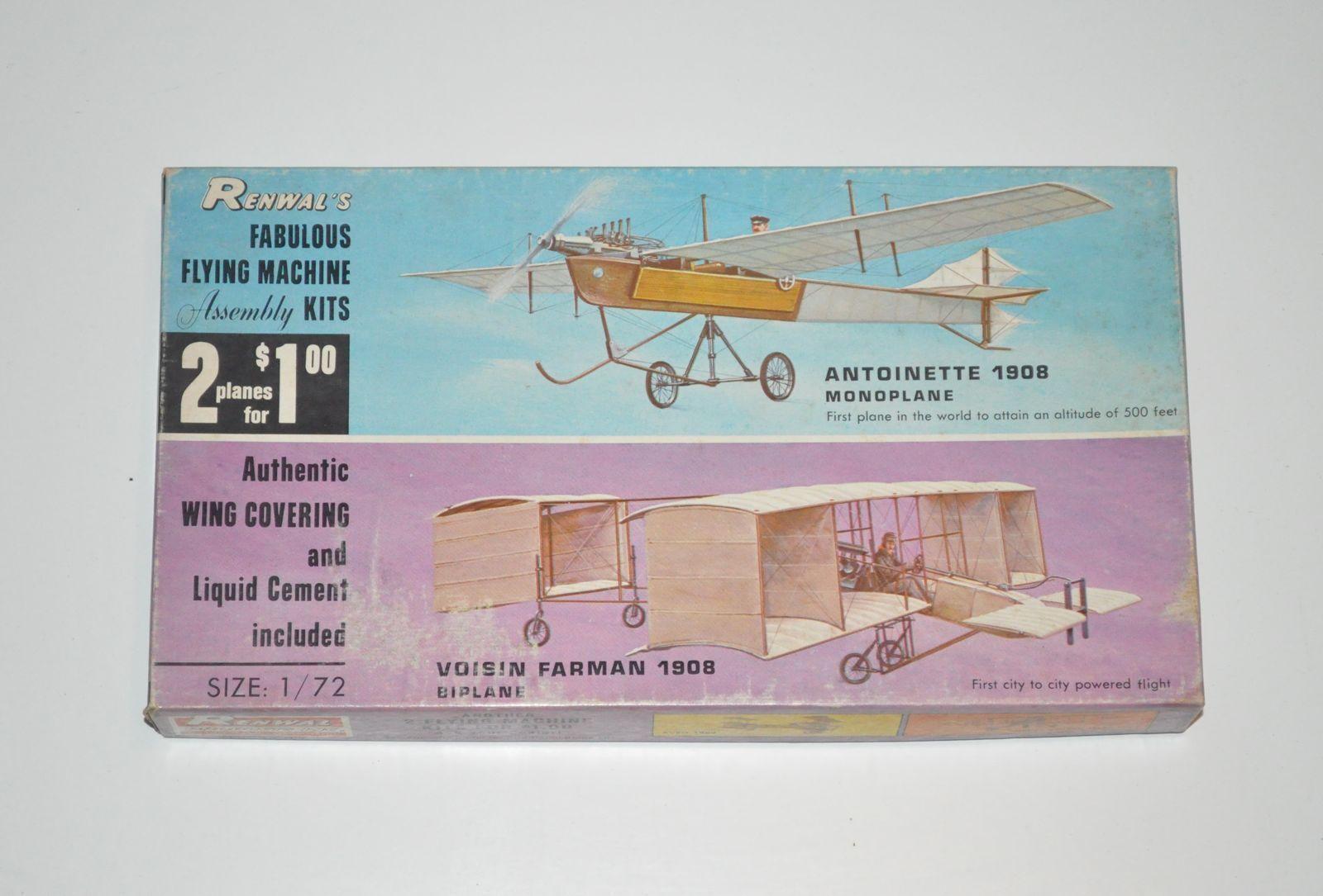 preferenziale RENWAL Antoinette + Voisin Voisin Voisin Faruomo doppio kit Aeroskin 1 72  prezzi più bassi