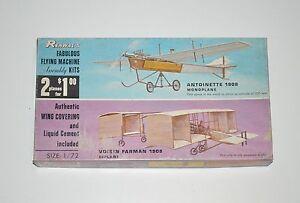 Renwal Antoinette Voisin Farman Double Kit Aeroskin 1/72