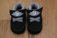 Air Jordan Baby Boy 1st Crib Shoes Black, Gray & White Soft Soles