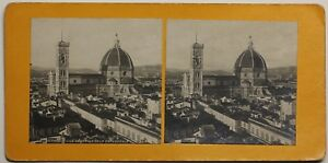 Firenze Cattedrale Italia Foto Stereo P48n11 Vintage Analogica