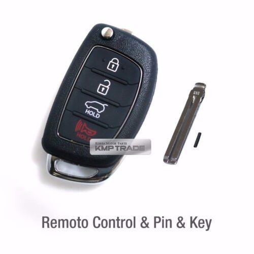 OEM Keyless Entry Fob Folding Key Remote Blank For HYUNDAI 2010-2013 Tucson ix35