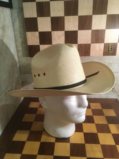 2cabe549401ed RESISTOL 10X BIG SPENDER SHANTUNG PANAMA STRAW COWBOY WESTERN HAT