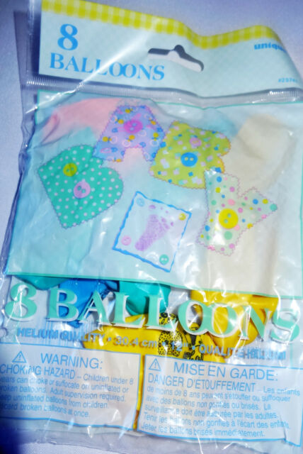 8 pack of mixed stitching baby shower balloons unisex decorations boys girls