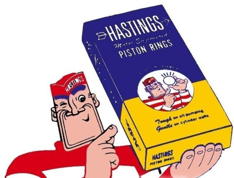 Hastings 5248020 4-Cylinder Piston Ring Set