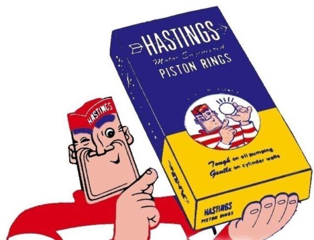 Hastings 2M4627 6-Cylinder Piston Ring Set