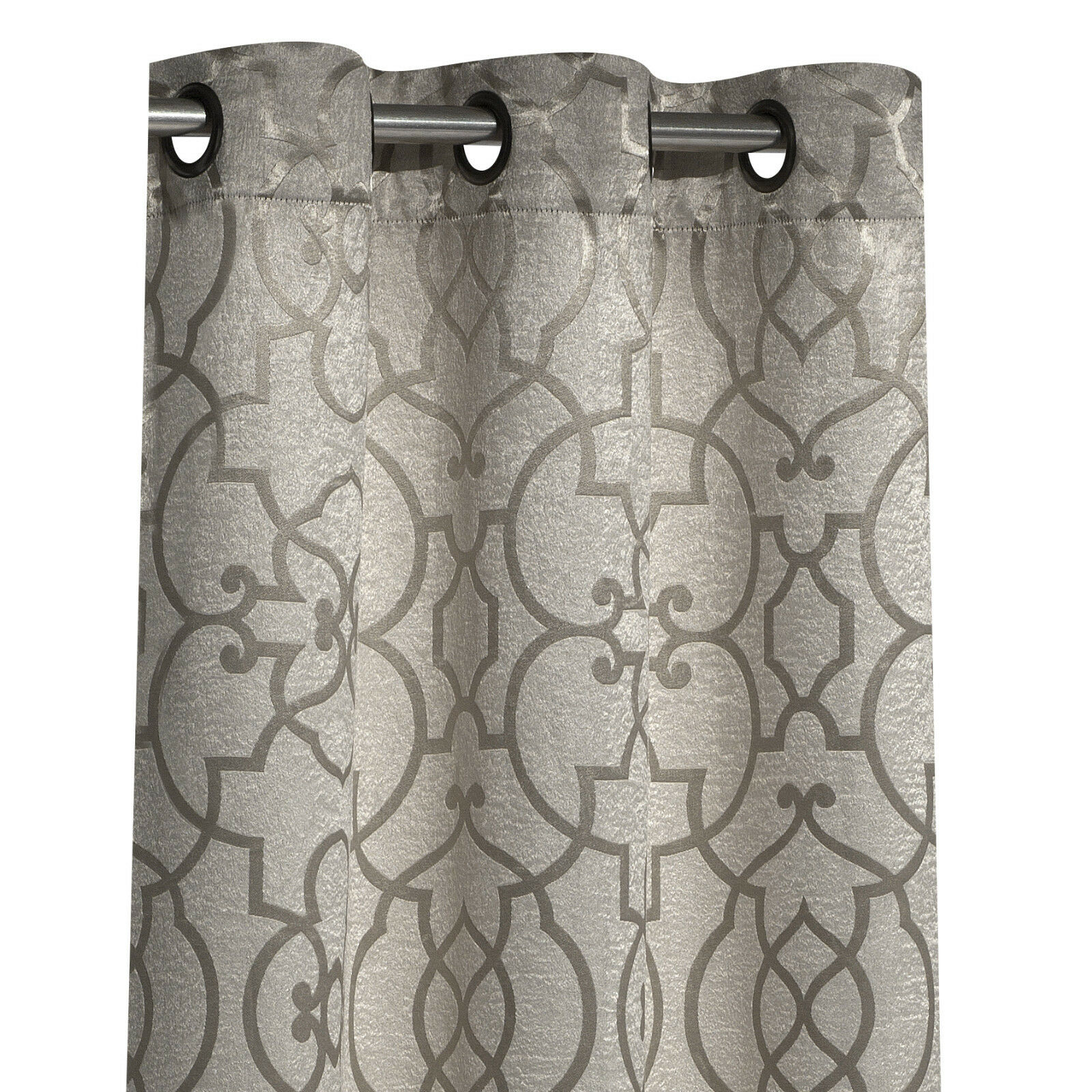 2 Pack: Regal Reversible Geometric Blackout Grommet Curtains - Assorted Colors