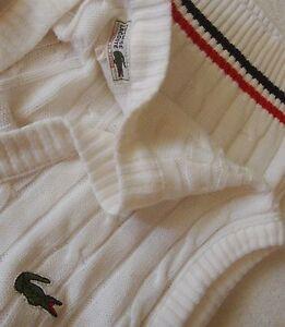 VEST-cardigan-vintage-039-80s-LACOSTE-TG-2-veste-M-circa-made-in-France-RARE