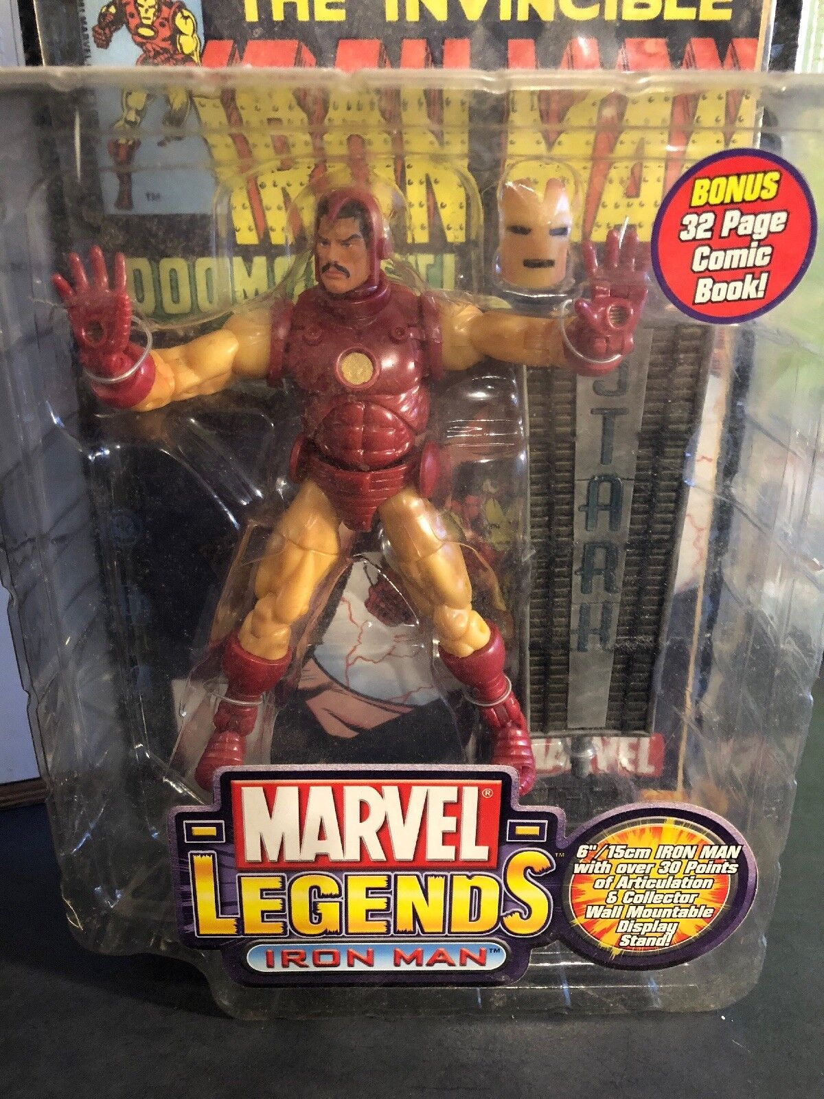 Toy Biz 2002 Marvel Legends Series 1 I Iron Man Figure Variant