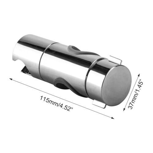 Shower Rail Slider Holder Adjustable 18mm to 25mm Universal Mount RA8X