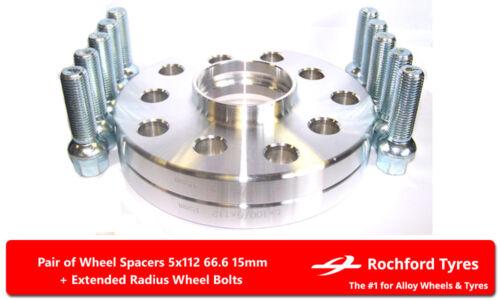 Wheel Spacers 15mm OE Bolts For Merc E-Class E63 AMG W211 02-09 5x112 66.6 2