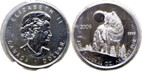 2006 $1 Canada Silver Timber Wolf 1//2 Oz .9999 Fine Original RCM Plastic Sleeve