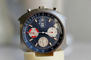 MIDO-Chronolympic-approx-1972-1974-Blue-Dial-Great-Condition