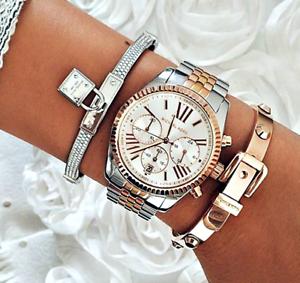d6f592176ae6 Michael Kors Watch Women s Watch Mk5735 Lexington Silver Gold Rose ...